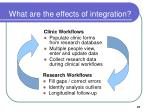 what are the effects of integration