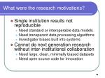 what were the research motivations