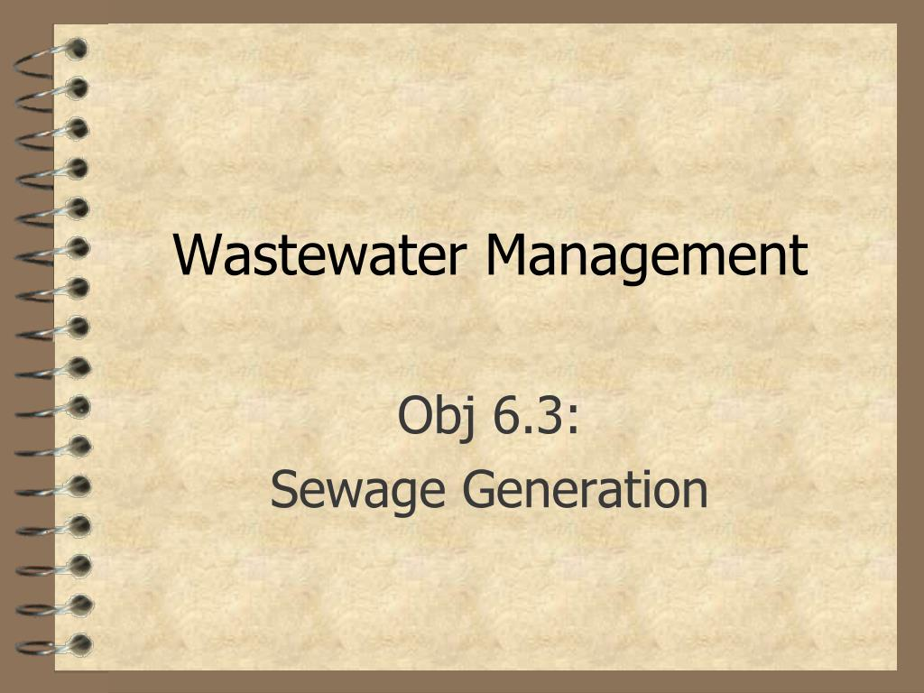 wastewater management l.