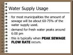 water supply usage