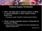 federal supply schedules
