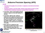 airborne precision spacing aps