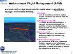 autonomous flight management afm