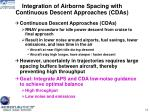 integration of airborne spacing with continuous descent approaches cdas