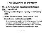 the severity of poverty