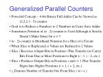 generalized parallel counters27