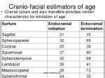 cranio facial estimators of age