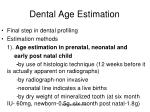 dental age estimation