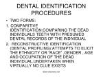 dental identification procedures
