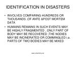 identification in disasters
