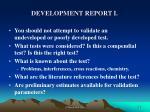 development report i