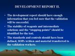 development report ii