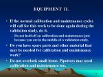 equipment ii