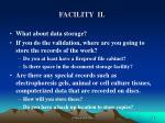 facility ii