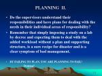 planning ii