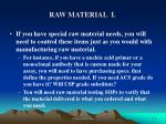 raw material i