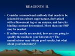 reagents ii