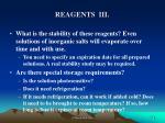 reagents iii
