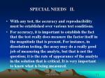 special needs ii