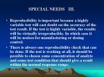 special needs iii
