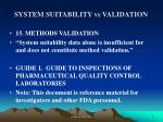 system suitability vs validation1