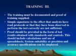training iii