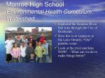 monroe high school environmental health curriculum watershed