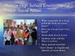 monroe high school environmental health social action