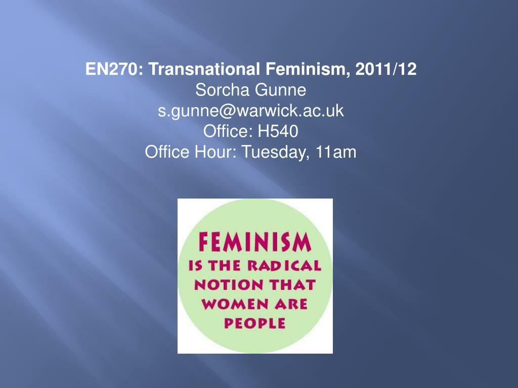 EN270: Transnational Feminism, 2011/12