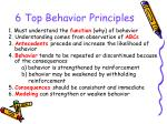 6 top behavior principles