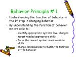 behavior principle 1
