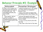 behavior principle 3 example