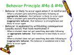 behavior principle 4a 4b