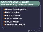 comprehensive sexuality education key concept areas