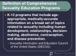 definition of comprehensive sexuality education programs