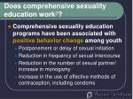 does comprehensive sexuality education work 2