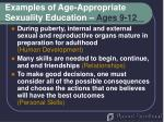 examples of age appropriate sexuality education ages 9 12