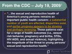 from the cdc july 19 2009 1