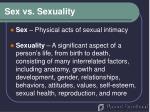 sex vs sexuality