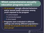 which comprehensive sexuality education programs work 225