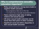 why is comprehensive sexuality education important