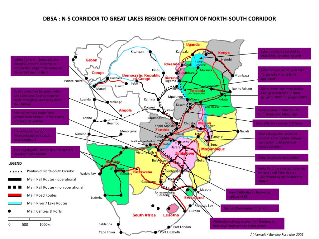 DBSA : N-S CORRIDOR TO GREAT LAKES REGION: DEFINITION OF NORTH-SOUTH CORRIDOR