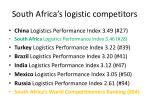 south africa s logistic competitors