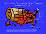 gonorrhea rates by state united states and outlying areas 2002
