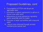 proposed guidelines cont