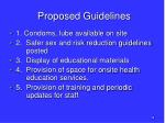 proposed guidelines