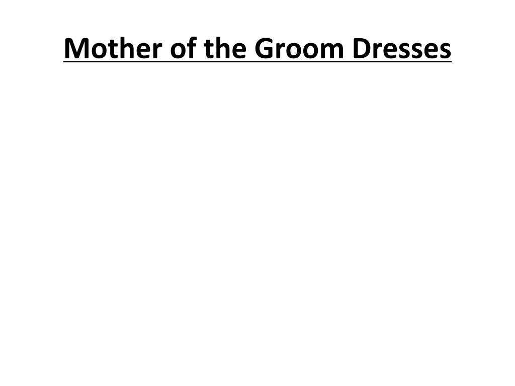 mother of the groom dresses l.