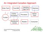 an integrated canadian approach