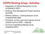 coffs working group activities