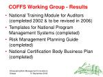 coffs working group results